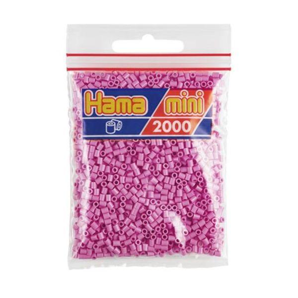 Bolsa de Hama Mini rosa pastel de 2000 piezas Nº 501-48