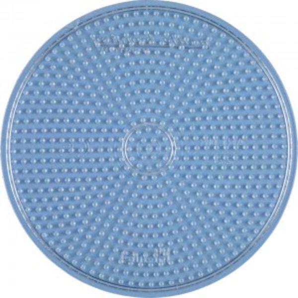 Placa / Pegboard circular grande transparente para Hama midi