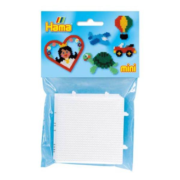 Pack 2 Placas/ Pegboards de 7x7 centímetros conec. para Hama Mini