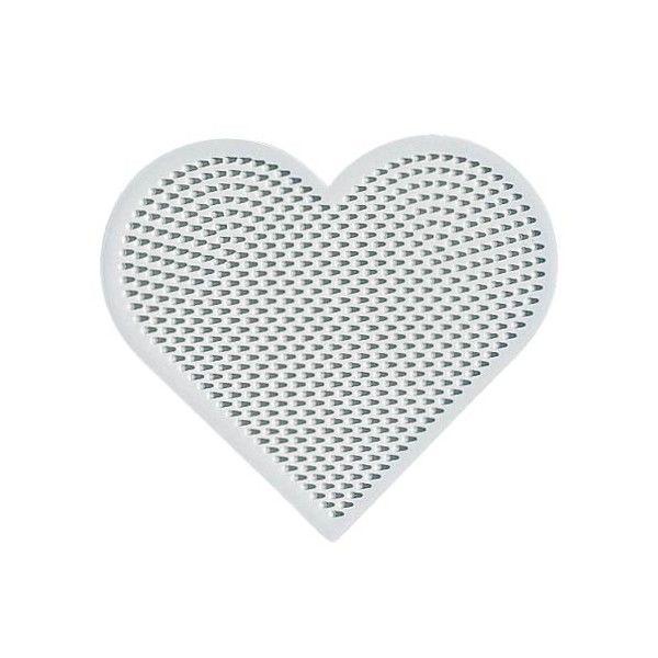 Placa / Pegboard corazón pequeño para Hama Mini