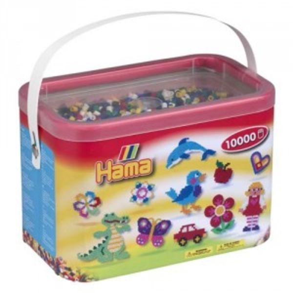 Cubo 10.000 piezas Hama Midi Mix 66 ( 6 Colores)