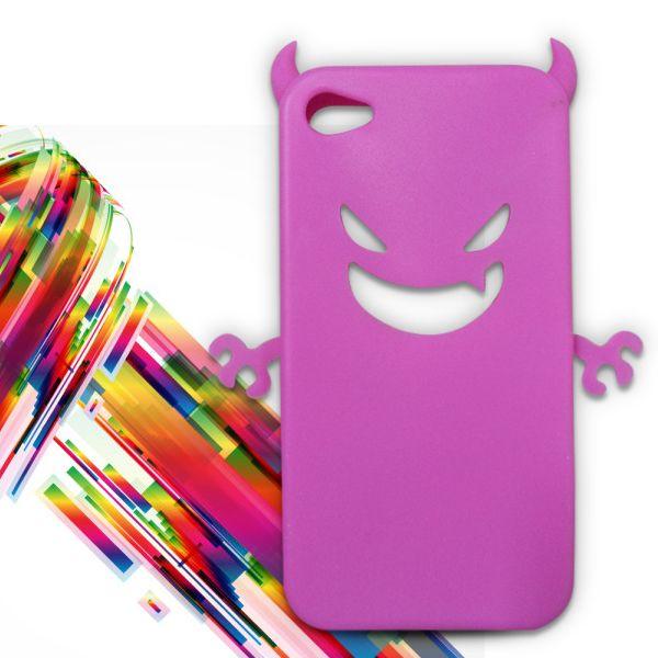 Carcasa Iphone 4G - Diablillo rosa oscuro