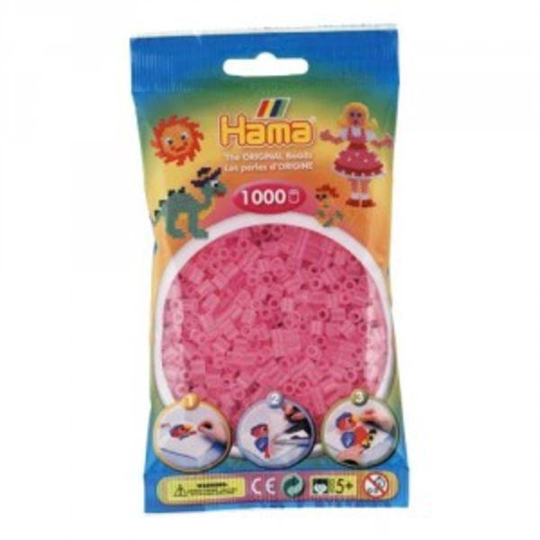 Bolsa de Hama midi rosa translúcido de 1000 piezas 207-72
