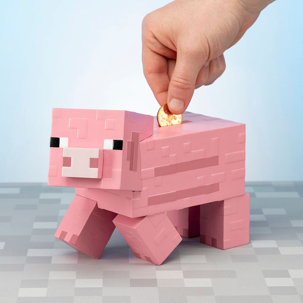 Hucha Cerdito Minecraft