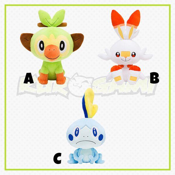 Sobble Grookey ScorBunny Plush Doll Pokemon Sword and Shield 20 cms