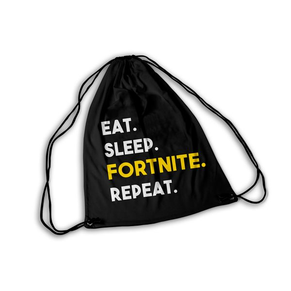 Mochila GYM Fortnite Eat Sleep Fortnite Repeat