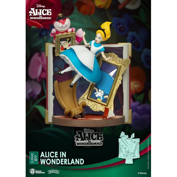 Alice in Wonderland Disney Diorama D-Stage Story Book Series
