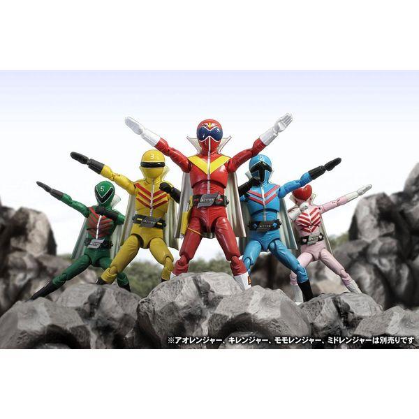 Figura Aka Ranger Hero Action Figure Himitsu Sentai Gorenger
