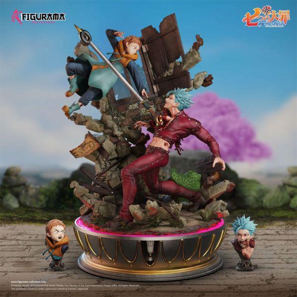 Estatua Ban vs King Seven Deadly Sins Diorama Elite Fandom