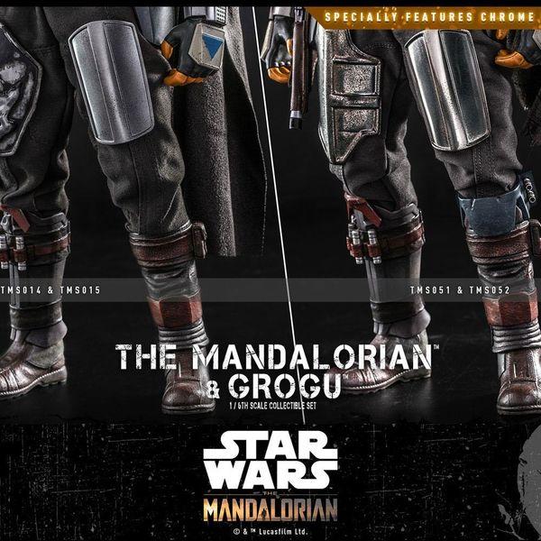 Figura The Mandalorian & Grogu Set 2 Figuras Star Wars The Mandalorian Hot Toys