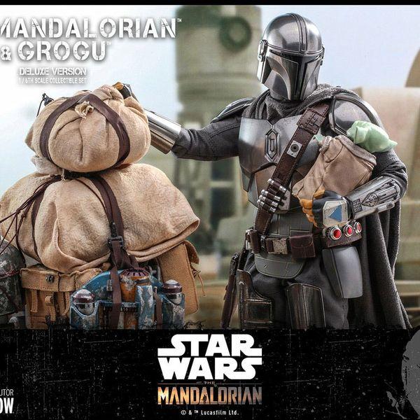 Figura The Mandalorian & Grogu Set 2 Figuras Star Wars The Mandalorian Deluxe Version Hot Toys
