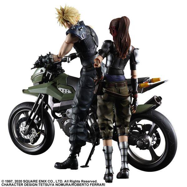Figura Cloud Jessie y Moto Final Fantasy VII Remake Play Arts Kai