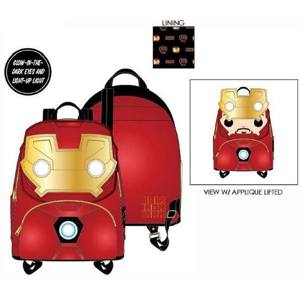 Iron Man Backpack Marvel Comics Loungefly