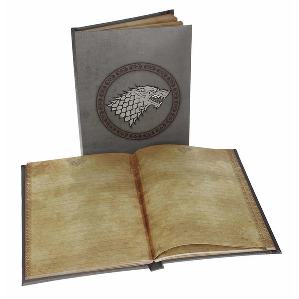 Ligth up Notebook Stark House Game of Thrones