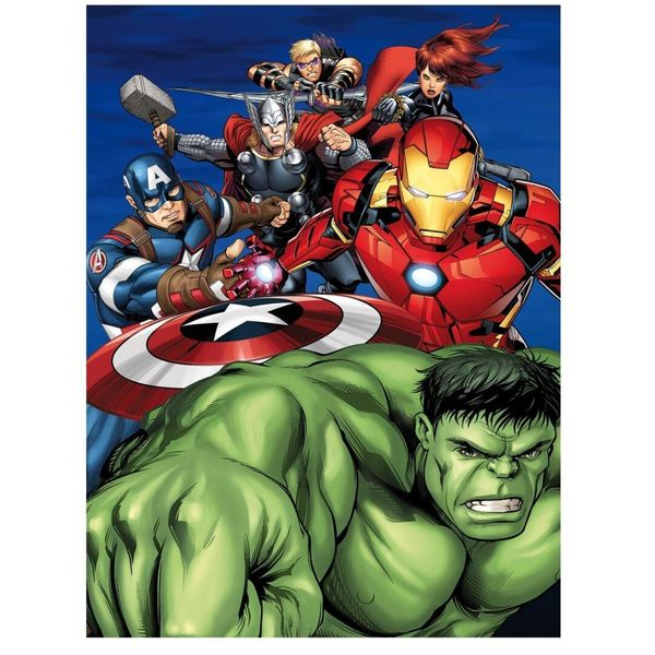 Heroes Polar Plaid Marvel Comics 70 x 140 cms