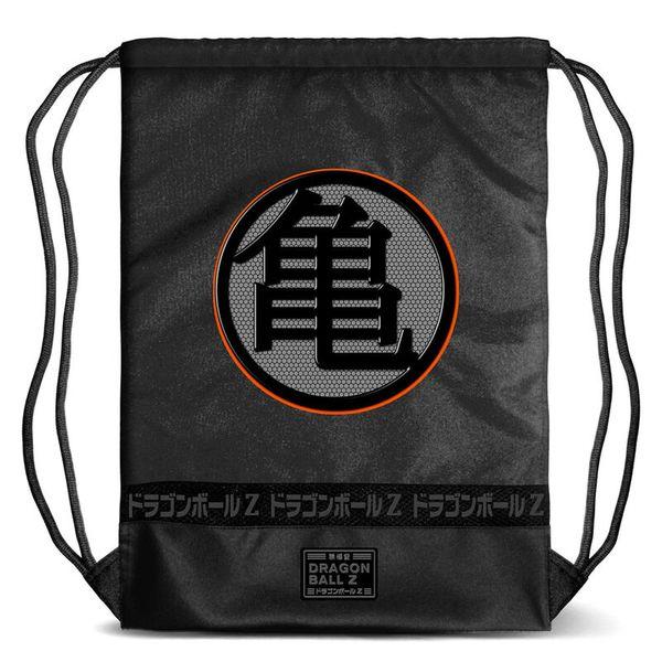 Mochila GYM Kame Kanji Negro Dragon Ball Z