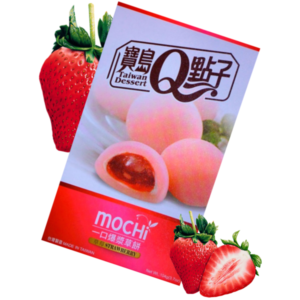 Caja de Mochis Fresa Taiwan Dessert