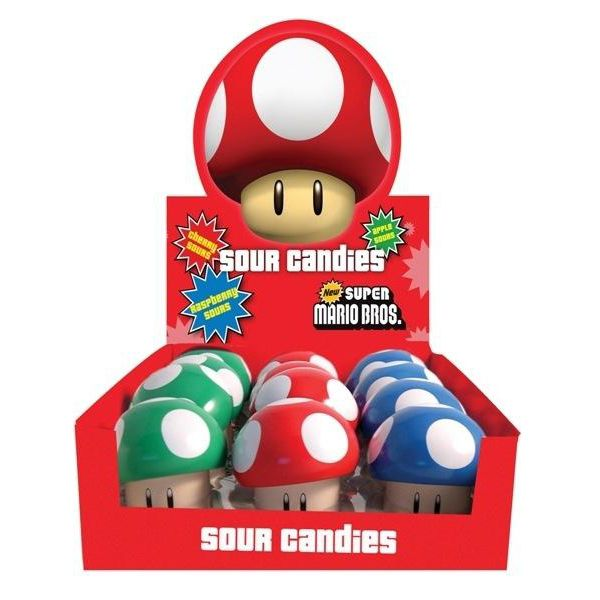 Caramelos Super Mario Bros Champiñon Sour Candies