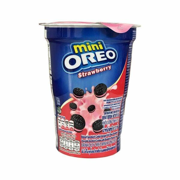 Mini Oreo Cookies with Strawberry Cream