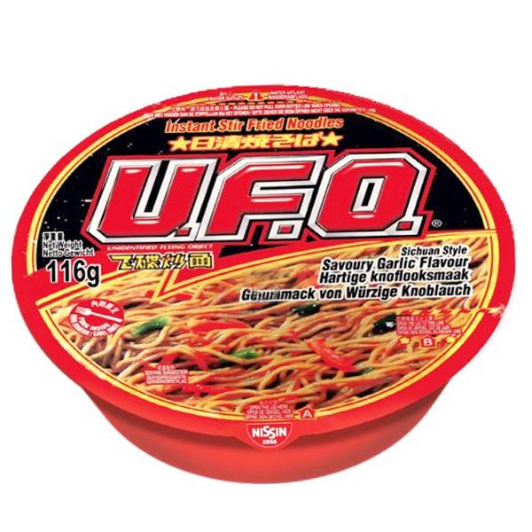 Noodles Nissin UFO Sabor Ajo