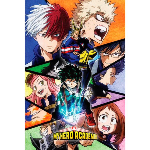 Poster My Hero Academia Mosaico Personajes 91 x 61 cms
