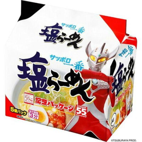 Ramen Noodles Sapporo Ichiban with Salt (5 packs)