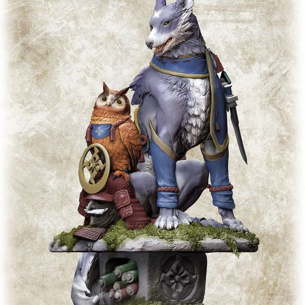 Figura Palamute Otomo Garuku Monster Hunter CFB Creators Model