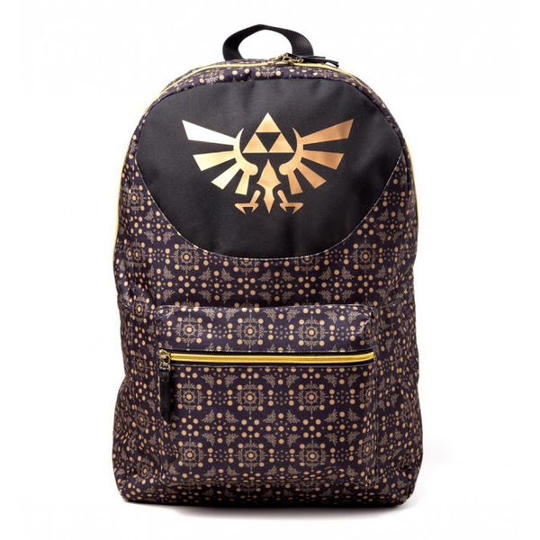 c8d6d0c3fe0 The Legend of Zelda Black & Gold Backpack | Kurogami Anime & Manga shop