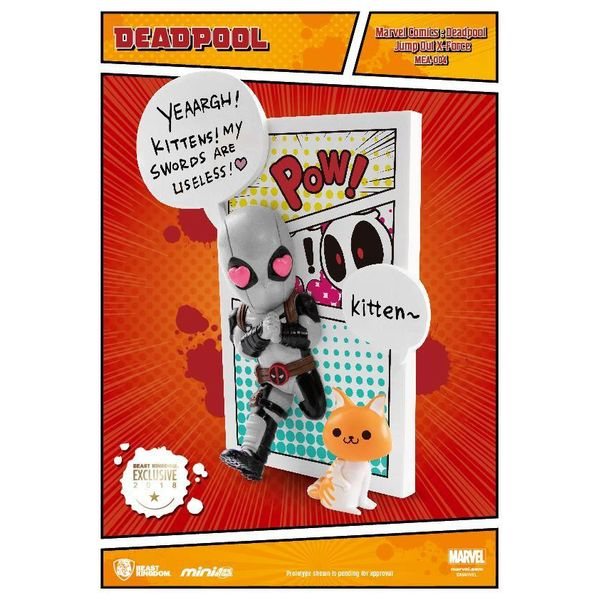 Figura Deadpool Jump Out 4th Wall PX X Force Marvel Comics Mini Egg Attack