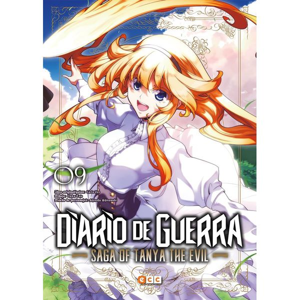 Diario de Guerra Saga of Tanya the Evil #09 (Spanish) Manga Oficial ECC Ediciones