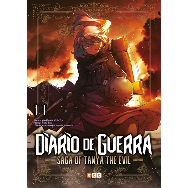 Diario de Guerra Saga of Tanya the Evil #11 (Spanish) Manga Oficial ECC Ediciones