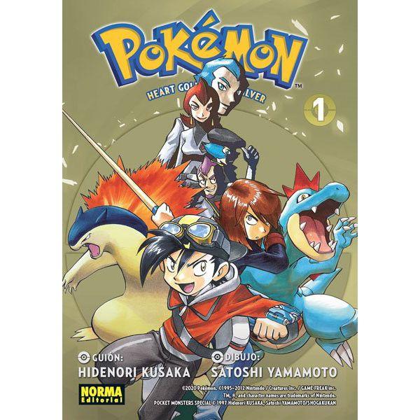 Pokemon Heart Gold y Soul Silver #01 Manga Oficial Norma Editorial
