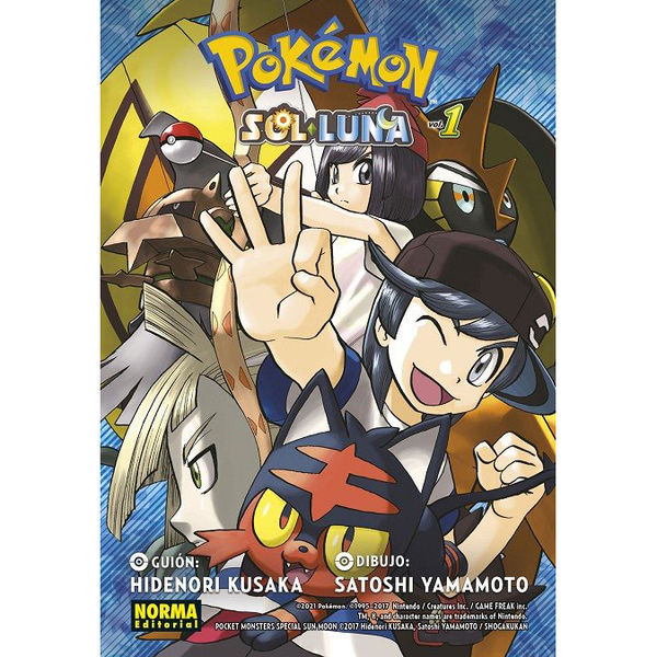 Pokemon Sol y Luna #01 Manga Oficial Norma Editorial