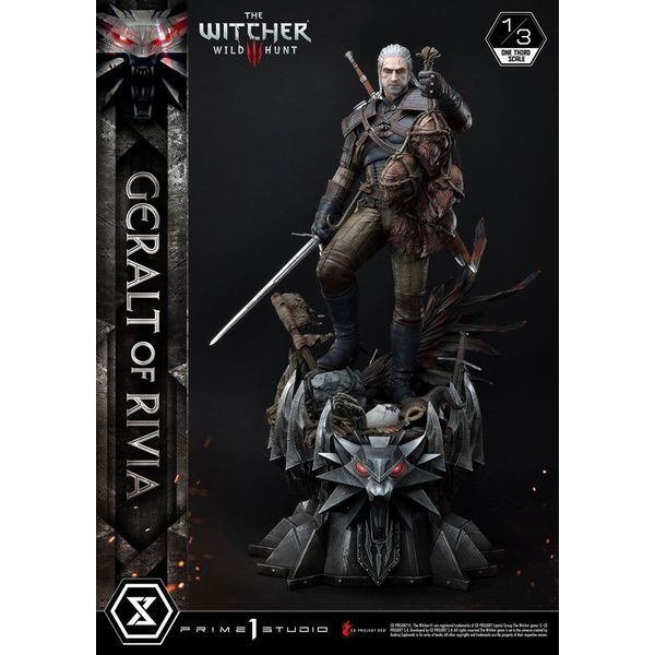 Estatua Geralt de Rivia Witcher 3 Wild Hunt Museum Masterline