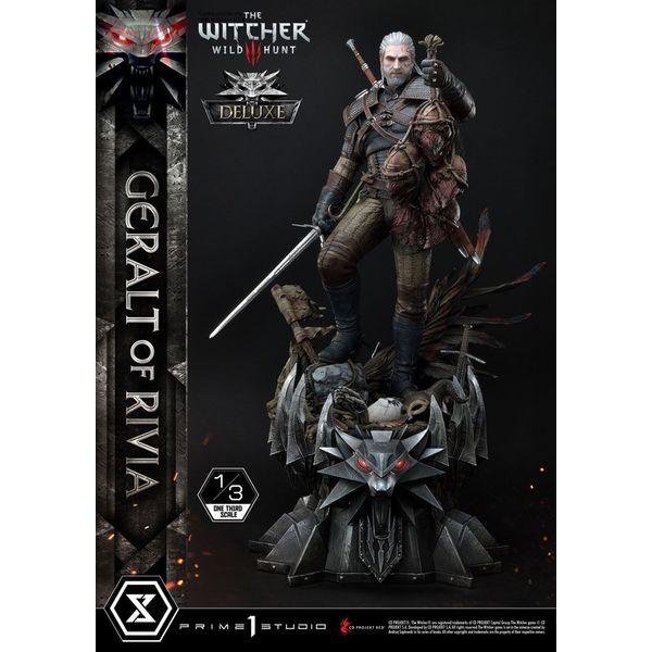 Estatua Geralt de Rivia Deluxe Version Witcher 3 Wild Hunt Museum Masterline