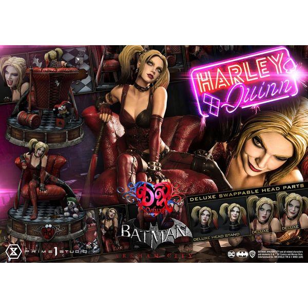 Estatua Harley Quinn Deluxe Bonus Version Batman Arkham City Museum Masterline