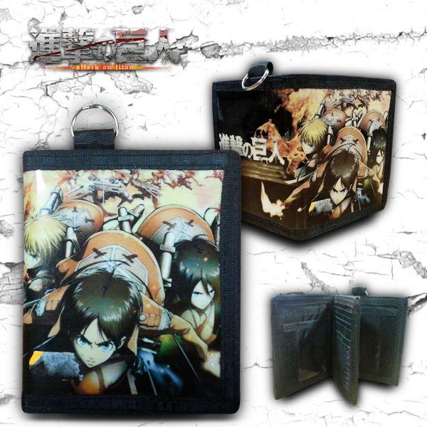 Cartera Mikasa, Eren y Armin Ataque a los Titanes
