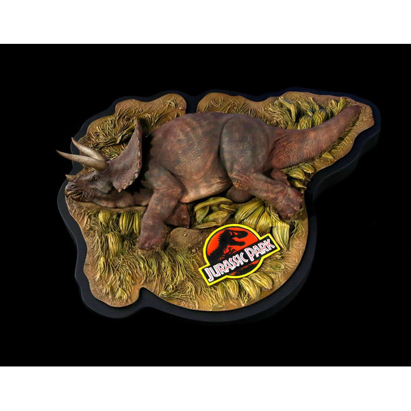 Estatua Triceratops enfermo Parque Jurasico