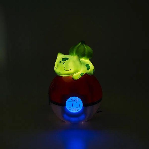 Lampara Despertador Bulbasaur Pokemon 15 cm