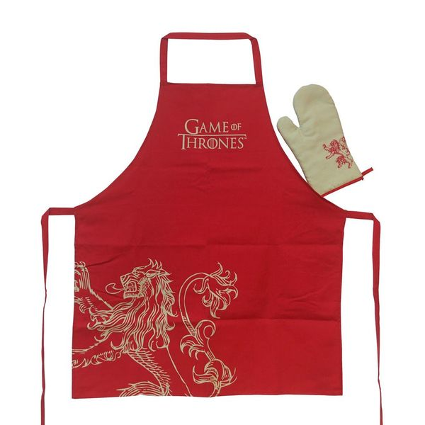 House Lannister Apron and Mitten Set Game Of Thrones