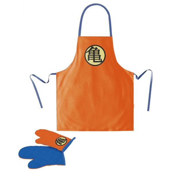 Kanji Kame Apron and Mitten Set Dragon Ball Z