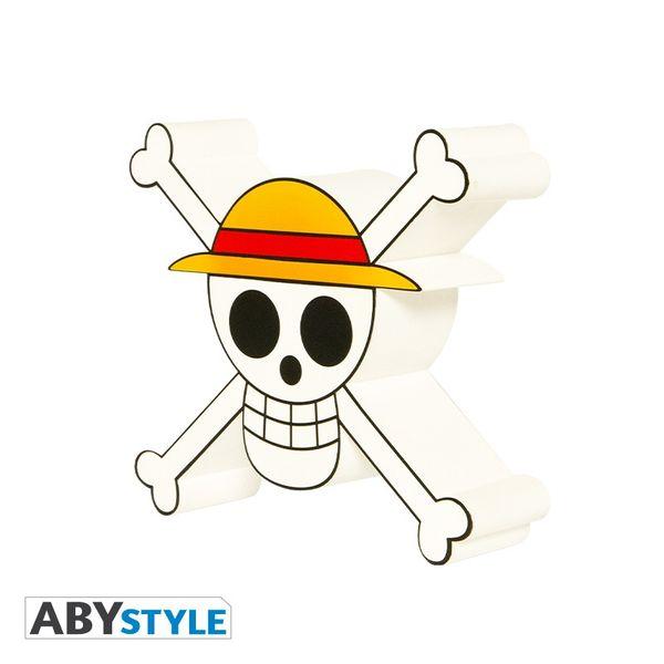 Lampara 3D Calavera Luffy One Piece