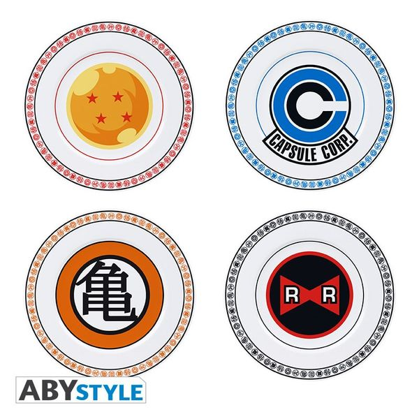 Dragon Ball Plates Emblems