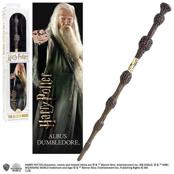 Varita Mágica y Punto de Libro 3D Albus Dumbledore Harry Potter