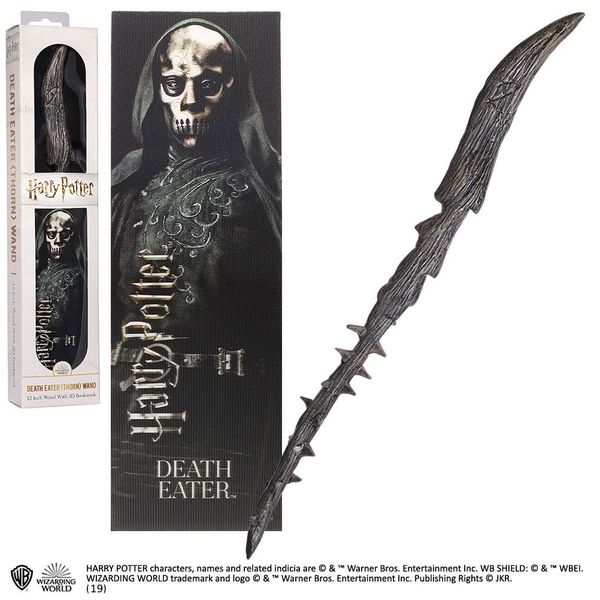 Death Eater Magic Wand And 3D Bookmark Harry Potter