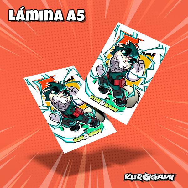 Lamina A5 Kuroneko Heroe Kurogami