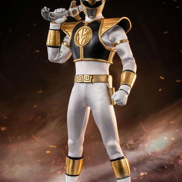 White Ranger Figure Mighty Morphin Power Rangers FigZero