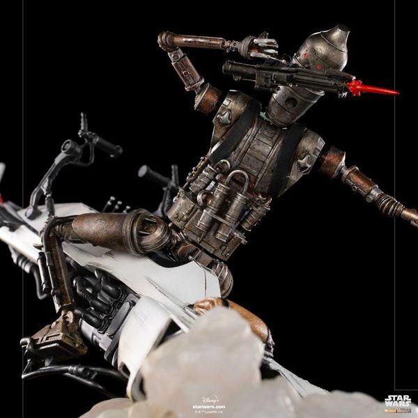 Estatua IG 11 y Grogu Star Wars The Mandalorian Deluxe Art Scale