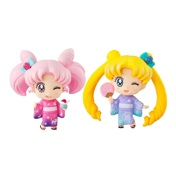 Figura Sailor Moon & Chibiusa Kyotobeni Sailor Moon Petiti Chara Set