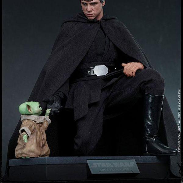 Figura Luke Skywalker Star Wars The Mandalorian Hot Toys Deluxe Version